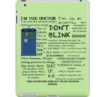 Dr Who quotes iPad Case/Skin