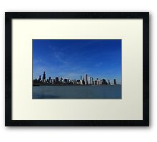 Chicago City Skyline Framed Print