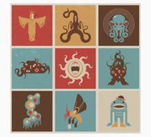 The Lovecraftian Squares Kids Clothes