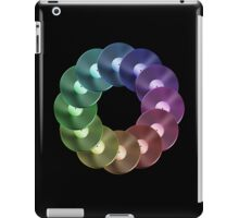 Ring of Vinyl LP Records - Metallic - Rainbow iPad Case/Skin
