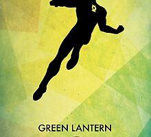 Green Lantern Minimal Poster by Jelsier