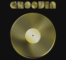 Groovin - Vinyl LP Record & Text - Metallic - Gold by graphix