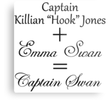 Captain Swan Equation Metal Print
