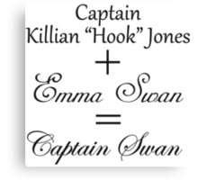 Captain Swan Equation Canvas Print