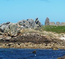 Rocks and ruins in Oléron by Margotte