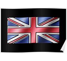 British Union Jack Flag 2 - UK - Metallic Poster