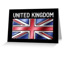 United Kingdom - British Flag & Text - Metallic Greeting Card