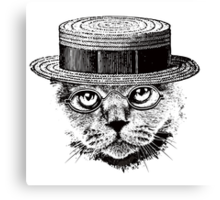 The Most Interesting Cat In The Hat Canvas Print