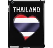 Thailand - Thai Flag Heart & Text - Metallic iPad Case/Skin