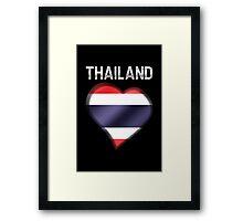 Thailand - Thai Flag Heart & Text - Metallic Framed Print