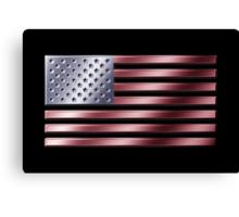 American Flag - USA - Metallic Canvas Print