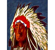 American Indian Chief Photographic Print