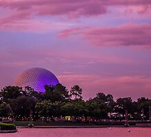 epcot sunset.  by Diana Kelly