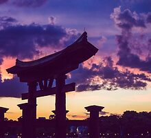 epcot sunset.  by dkelly1126