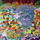 Nasturtium garden . by Virginia McGowan