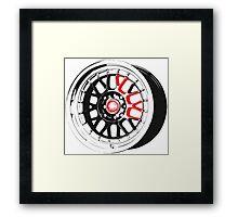 Black and Red Rim Framed Print