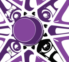 Purple and Black Rim Sticker