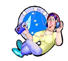Astronaut Listening To Music by kwg2200
