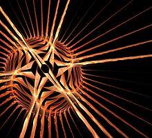 Fun bright geometric abstraction in aggressive style by Aepsilon