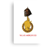 The Head on the Hand - Valar Morghulis - Ned Stark  Canvas Print