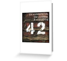 42 - The Meaning of Life Greeting Card