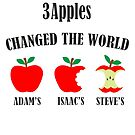 3 Apples Changed The World Colour Apple Design by stabilitees