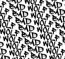 Bad Wolf - Doctor Who Graffiti Pattern by SaraduJour