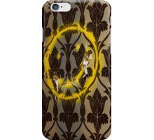 Sherlock Smiley Face Damask Wallpaper iPhone Case/Skin