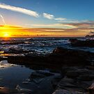 Godrevy lighthouse at sunset  by Paul Thompson Photography