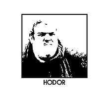 Hodor Inspired Artwork 'Game of Thrones' Photographic Print