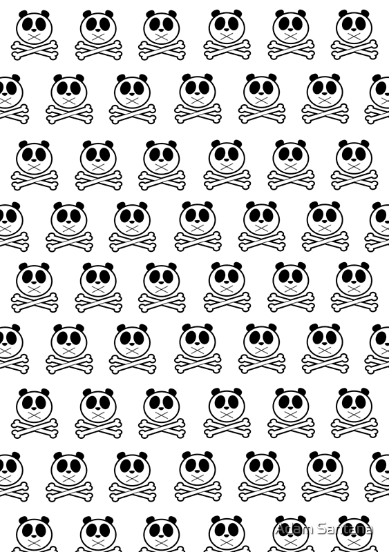 Panda Cross Bone - Pattern by Adamzworld