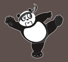 Martial Arts Panda 2 - Grey Kids Clothes