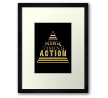 Success is... (black and gold) Framed Print