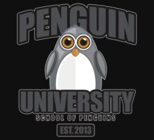 Penguin University - Grey 2 Kids Clothes