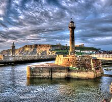 Whitby Harbour on the North Yorkshire Coast by © Steve H Clark