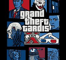 Grand Theft Tardis 10th Doctor - Doctor Who Inspired by Mellark90