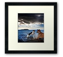 Dogs with game face on .28 Framed Print