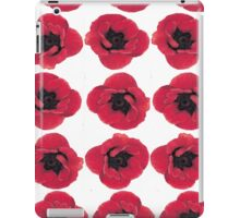 3 Red Poppies  iPad Case/Skin