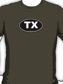 Texas TX Euro Oval  T-Shirt