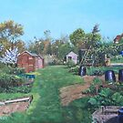 Sheds on allotments at Southampton by martyee