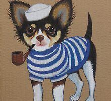 Sailor Chihuahua by PaperTigressArt