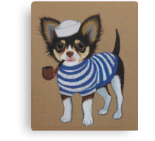 Sailor Chihuahua Canvas Print