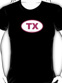 Texas TX Euro Oval PINK T-Shirt