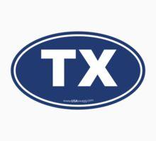 Texas TX Euro Oval BLUE by USAswagg2