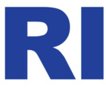 Rhode Island RI Euro Oval BLUE Sticker