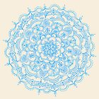 Pale Blue Pencil Pattern - hand drawn lace mandala by micklyn