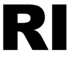 Rhode Island RI Euro Oval  Sticker