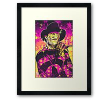 Neon Horror: Freddy  Framed Print