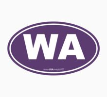 Washington State WA Euro Oval PURPLE Kids Clothes