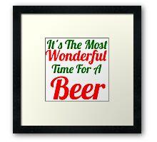time for a beer Framed Print